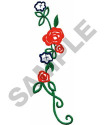FLORAL EDGE embroidery design