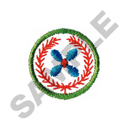 WREATH IN CIRCLE embroidery design