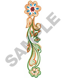 CURLY FLORAL embroidery design