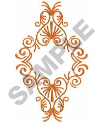 Scrollwork Frame embroidery design