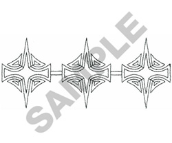 ABSTRACT BORDER embroidery design