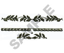FLORAL EMBELLISHMENTS embroidery design