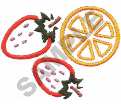 STRAWBERRIES AND ORANGE embroidery design
