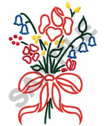 WILDFLOWER BOUQUET embroidery design