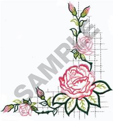 APPLIQUE ROSE  embroidery design