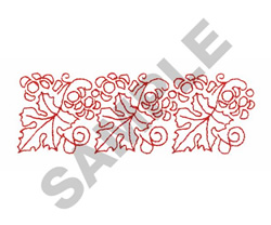 REDWORK GRAPES & LEAVES embroidery design