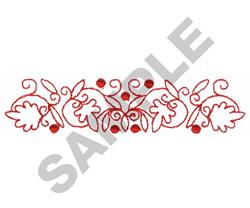 REDWORK BORDER embroidery design
