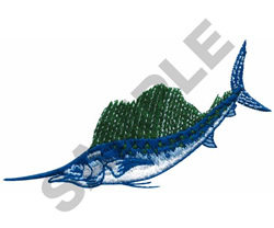 SAIL FISH embroidery design