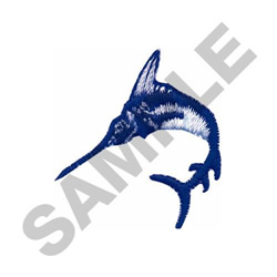 SMALL BLUE MARLIN embroidery design