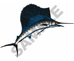 SAILFISH embroidery design
