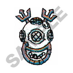 DEEP SEA DIVING HELMET embroidery design
