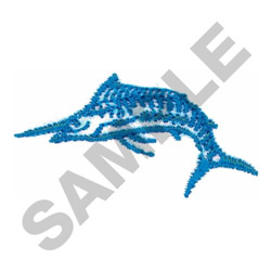 BLUE MARLIN embroidery design