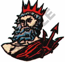 KING NEPTUNE / POSEIDON embroidery design