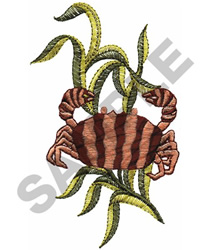 CRAB AND SEAWEED embroidery design
