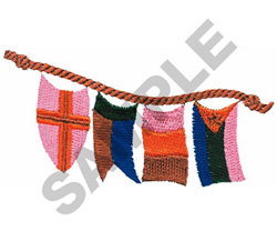 FLAGS ON A ROPE embroidery design