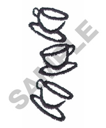 CUPS embroidery design