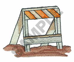 ROAD BARRIER embroidery design