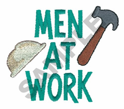MEN AT WORK embroidery design