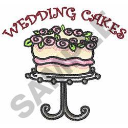 WEDDING CAKES embroidery design