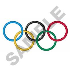 OLYMPIC RINGS embroidery design