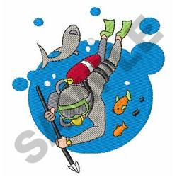 SCUBA HUNT embroidery design
