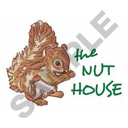 THE NUT HOUSE embroidery design