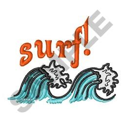 SURF embroidery design