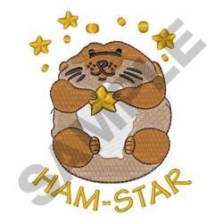 HAM STAR embroidery design
