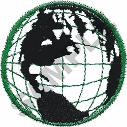 GLOBE embroidery design