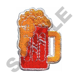 MUG OF BEER embroidery design