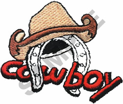 COWBOY  HAT & SPUR embroidery design