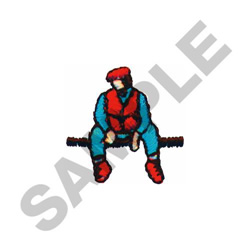 MAN SITTING  IDLE embroidery design