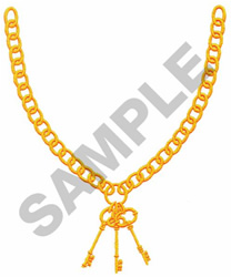 CHAIN & KEYS embroidery design