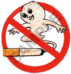 NO SMOKING embroidery design