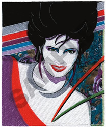 GRAPHIC ART WOMAN embroidery design