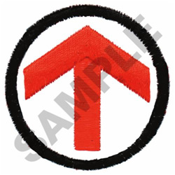 DIRECTIONAL ARROW embroidery design