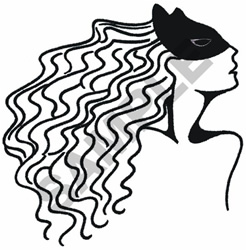 MASKED WOMAN embroidery design