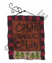 CABIN SWEET CABIN PORTRAIT embroidery design