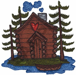 CABIN IN THE WOODS embroidery design