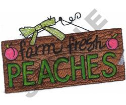 FARM FRESH PEACHES embroidery design