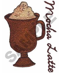 MOCHA LATTE embroidery design