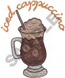 ICED CAPPUCCINO embroidery design