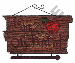 APPLE ORCHARD SIGN embroidery design