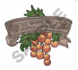 GRAND VIN VINEYARDS embroidery design