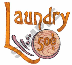 LAUNDRY 50 CENTS embroidery design