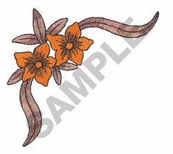 FLOWER CORNER BORDER embroidery design