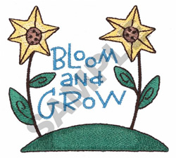 BLOOM AND GROW embroidery design