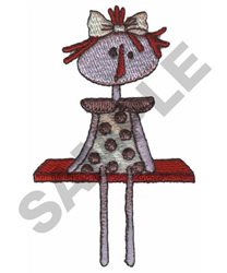 DOLL ON SHELF embroidery design