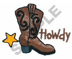 HOWDY embroidery design