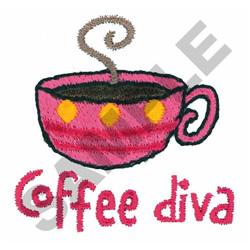 COFFEE DIVA embroidery design